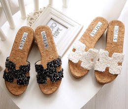Wholesale 33 summer platform sandals slope with high heeled sandals H word slippers female slippers
