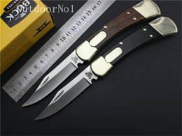 Wholesale Buck Tactical knife C Blade Brass wood handle camping knife hunting knife Double Action Conversions pocket fruit knife EDC tools