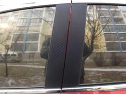 Wholesale 4pcs for Chevrolet New sail B column Middle glass column Carbon fiber sticker