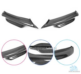 Wholesale Carbon fiber front bumper lips for BMW E90 with M motion of the beam splitter duct STICKERS