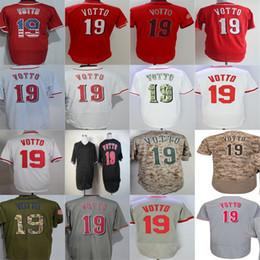 Newest Arrival Cincinnati Mens Ladys Kids 19 Joey Votto Jersey Red White Grey Black Camo Cheap Baseball Jersey Best Quality Cheapest Jerseys