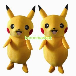 Wholesale Adult Costumes Pikachu Mascot Brand New Party Fancy Dress Halloween Complete Outfits Cartoon Character