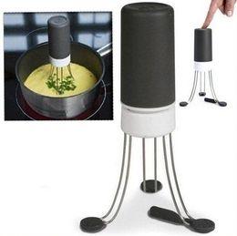 Wholesale 1pcs Hot Speeds Cordless Stir Crazy Stick Blender mixer Automatic Hands Free Kitchen Utensil Food Sauce Auto Stirrer Blender