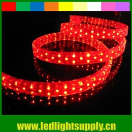 4 Wire Flat LED Neon Rope Light 11X20mm 108leds M 50M(164') RBY or RGB AC220V Cear Tube Christmas Light Duralight Neon Strip