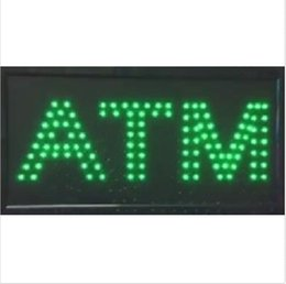 Wholesale 20PCS price x10 x0 ATM LED SIGN Animation Flash BRIGHT GREEN indoor use Come With POWER ON OFF Switch