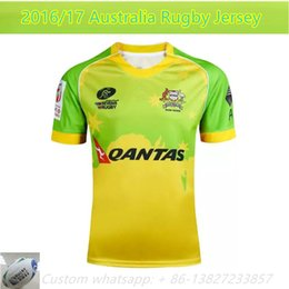 Wholesale NEW Zealand Australia S Rugby jersey Top HOME America ALL BLACKS BLUE RWC NRL Super RUGBY home and away rugby jerseys Shirts