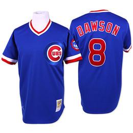 Wholesale Throwback Chicago Cubs Andre Dawson Navy Blue Cream Retro MLB Baseball Jerseys From China