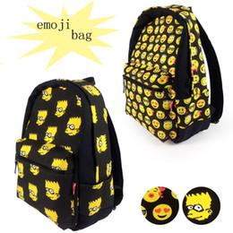 Promotion enfants de bande dessinée étudiants sacs Sacs à bandoulière Smiley Smiley Emoji Face Sacs à main Cartoon Emoji Sacs à dos pour enfants Kids Kids EMJ018
