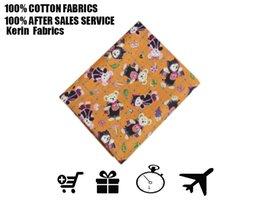 Wholesale cotton fabrics Orange bottom bats tamiflu bear cotton fabrics clothing fabric High quality and retail