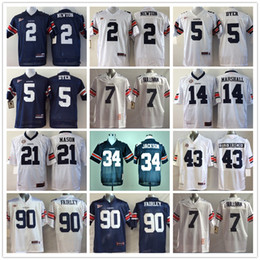 Wholesale Auburn Tigers Jersey Football Ncaa College Cam Newton Pat Sullivan Michael Dyer Bo JACKSON Tre Mason Nick Marshall Philip Lutzenkirchen Nick