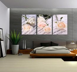 Free shipping 3Pieces unframed Home decoration art picture Canvas Prints rose tulips music Abstract tree Lotus forest leaf peony bird