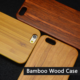 Wholesale iPhone s Wooden Case Bamboo Wood Case For Samsung S7 S6 Edge S5 Note Handmade Wood Slim PC Bumper DHL Free