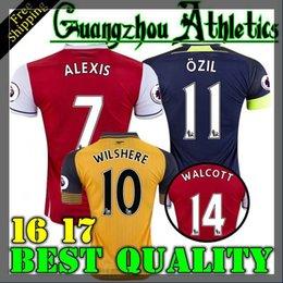 Wholesale 2016 Arsenal Away home RD Jerseys WILSHERE OZIL WALCOTT RAMSEY ALEXIS shirt