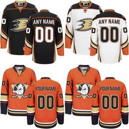 Maillots de canard Anaheim personnalisés Black Orange 2016 Stadium Series Jerseys Stitched Mighty Ducks of Anaheim Maillots de hockey taille S-3XL à partir de fabricateur