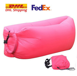 Wholesale Fast Inflatable Sleeping Bags Sofa hiking Beach tents camping Lazy Chair tarps outdoor pads fold Air Beds Couch Portable Furniture mattress