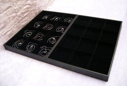 14 inch Large Jewelry Display Tray in black velvet for beads and bracelet