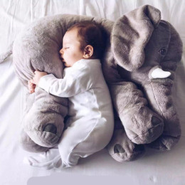 Wholesale Elephant Pillow Plus Animals Toys Lovely Short Plush Dolls Baby Safe High Quality Toys Newest
