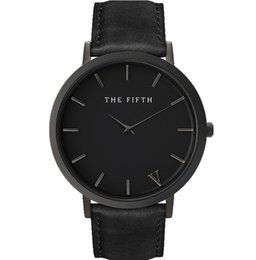 Wholesale The fifth brand mesh watch simplicity classic men leather wristwatch Fashion Casual Quartz Wristwatch high quality women watches