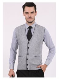 Mens spring Slim Fit Stylish Button up Cardigan Wool casual Sweater Casual Vest fashion Sleeveless sweater