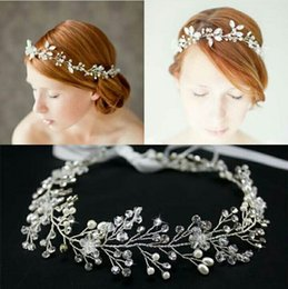 Newest Handmade Beading Gorgeous Bride Fascinators 2016 Hot Sale Wedding Accessories High Quality Bride Tiaras Free Shipping