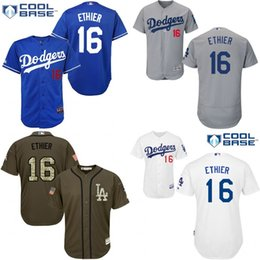 Wholesale Grey Andre Ethier Authentic Jersey Men s Los Angeles Dodgers Cool Base Road Flexbase Collection
