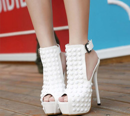 Wholesale Super High Heels 16 Cm - Fashionable sexy Liu nail after mix with 16 cm super fine with fish mouth female sandals cool boots