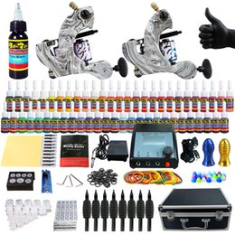 Wholesale Solong Tattoo Complete Tattoo Kit Pro Machine Guns Inks Power Supply Foot Pedal Needles Grips Tips Carry Case TK259