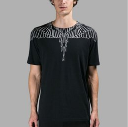 Summer new style marcelo burlon brand clothing t shirt men fashion loose angel wings t-shirt men women cotton tee shirts tops
