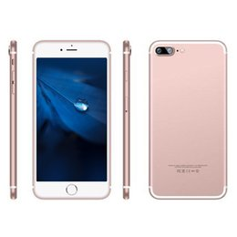 Wholesale Goophone I7 Plus inch MTK6582 Quad Core D touch Android cellphone G WCDMA Fake G lte Real G GB real MP Camera clone phone
