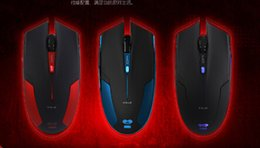 Wholesale E LUE EMS109 Cobra Gorgeous Edition LED Light DPI Gaming Mouse Wired Mice Buttons Max Acceleration GB lady gift computer