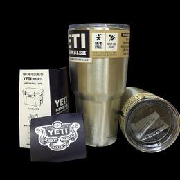 Wholesale YETI Drop shipping oz Cup Cooler YETI Rambler Tumbler For Travel Vehicle Beer YETI Mug Tumblerful Bilayer