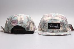 5 Panel Diamond Caps Snapbacks hats adjustable hats flat brim flower fashion cap street pop Flora for girls boys