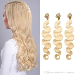 Body Wave Hair Weaves 8A Top Quality Virgin Human Hair Extensions Peruvian Virgin #613 Bleach Blonde 3 Bundles Soft and Silky No Tangle