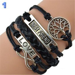 Wholesale Love Best Friends Infinity Bracelet Women Men Adult Novelty Rope Fashion Party Statement Jewelry Bracelets Valentine Gift Colors
