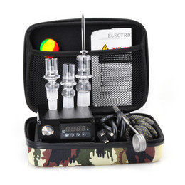 Wholesale Cheap E Quartz Nail Electric Dab Nail Box Kit Quartz Nail Carb Cap MM Male Temperature Controller Rig glass Bongs