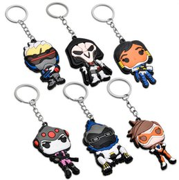 Wholesale 10pcs fashion online game hero figure silicone small pendant key chain
