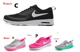 Wholesale 2016 New Women Fashion Air Soft Cushion Casual shoes print Thea Running Shoes jogging outdoors shoes max