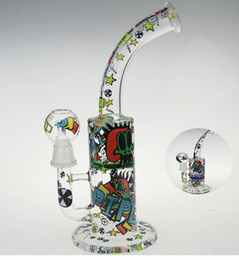 Wholesale SCRAWL NEW DESIGNS SKETCH BONG SKETCH DESIGNS ARTS WATER PIPE OUCHKICK BONG RANDOM DESIGH PATTERN WITH A GLASS BOWL