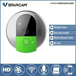Wholesale Vstarcam C95 WIFI Doorcam HD P CMOS Sensor Wireless Doorbell Two Way Audio Video Mobile View IP Indoor Camera
