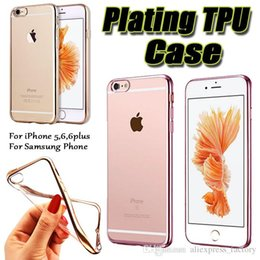 Wholesale Ultra Thin Gel Electroplating Soft TPU Skin Silicone Cover Case For iPhone Plus SE S S Samsung Galaxy S7 S6 edge Note MOQ