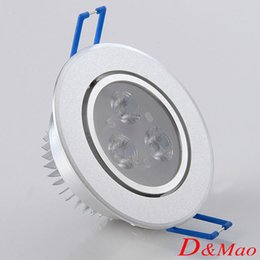 Wholesale Recessed Downlight W5W7W9W12W18W LED Ceiling Light Sliver Shell Warm White Cool White AC85 V Sportlight Panel Downlight Indoor Light
