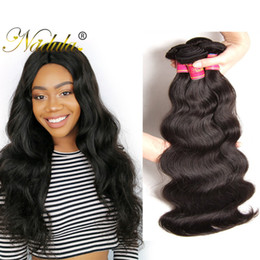 Nadula Brazilian Body Wave Hair 3Bundles 100% Human Hair Weaves Bundles Non Remy Hair Weft 8-30inch Natural Color Machine Double Weft