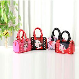 4 color rivet child messenger bag tote bag fashion girls child outing bag PU handbag