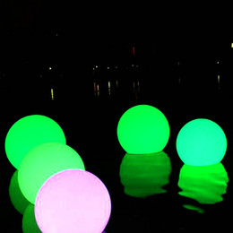 8PCS dia20cm Fast Free shipping rgb 16 colors remote control waterproof outdoor floating on pool led globe ball light