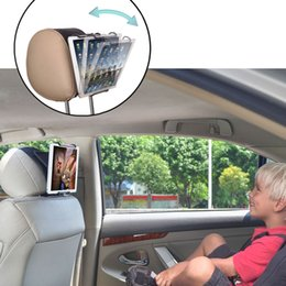 TFY Universal Car Headrest Mount Holder with Angle - Adjustable Holding Clamp for 6 - 12.9 inch Tablets