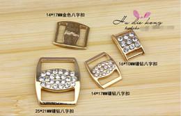 DIY handmake jewelry accessories alloly rose gold cute crystal ribbon slide Ribbon decorative clasps SPQML00134 16.5x13.7mm 50pcs lot