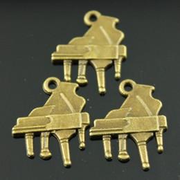 Wholesale 100pcs mm colors antique silver antique bronze plated piano charms
