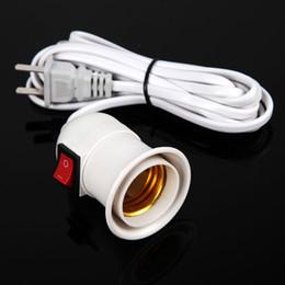 2pcs set Flexible E27 Plug-in Spot Lamp Base Multi-direction Wall Light Bulb US Plug Wall Lamp Holder