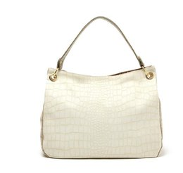 Wholesale H1620 EE CLASSIC Vintage White Pebbled Shoulder Bag Hobo Handbag drop shipping J13