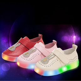 Wholesale Hug Me Kids Girls Shoes Girls Princess Rabbit New Autumn Shine Sequins Shoes Dress Shoes AA